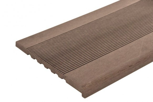 Ступень ДПК полнотелая TimberTex темно-коричневая